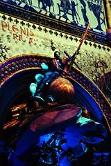 14 - Bayeux, La cathdrale de Guillaume - 1066-2016, La chaire tout en couleur (melina1965) Tags: normandie calvados bayeux octobre october 2016 sculpture sculptures statue statues churches church glises glise lumire light multicolore colorful multicoloured