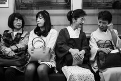 Eyes Closed (P4nk0) Tags: hanzomon tokyo train