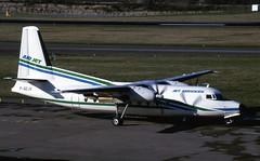 F-GCJV. Air Jet Fokker F-27 Friendship 600 (Ayronautica) Tags: fgcjv airjet fokkerf27friendship600 airliner turboprop 1990 february edi egph edinburgh scanned ayronautica aviation