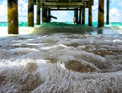 sea foam (-gregg-) Tags: sea foam ocean pier water different sky clouds