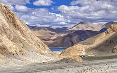 Reaching Pangong (Fil.ippo) Tags: pangong tso lake lago mountains sky clouds india ladakh landscape filippo filippobianchi travel nature d5000 ruby5
