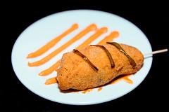 Almau-haciendo-familia-(Original)-Super-chicken-(base-de-pollo-con-espinaca-y-queso-y-salsa-de-pimiento) (San Lamberto 2000) Tags: concurso tapas zaragoza participación aragón gastronomía alimentación restauración