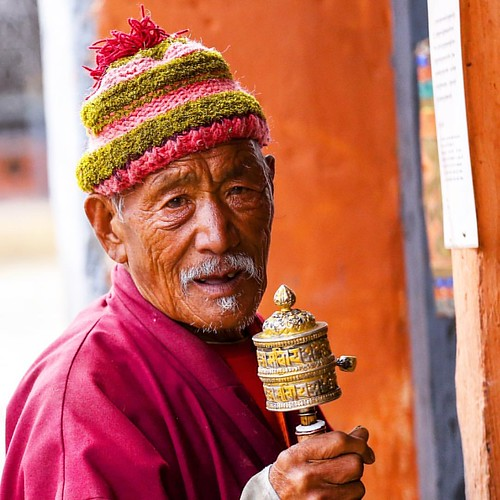 B H U T A N : An elderly man on his daily visit to a temple. . . . . . #travel #traveling #travelphotography #portrait #awesome #lifestyle #photooftheday #canon #canon6d #instatravel #wanderlust #explore #bhutan #people #travelling #lonelyplanet #travelle