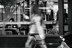 Cambie St. (. Jianwei .) Tags: window street halloween a6000 sony ghost urban coffeeshop