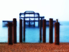 Old Pier (Belinda Fewings (3 million views. Thank You)) Tags: brighton beach resort pier hove rusty statue decay sea seaside belindafewings panasoniclumixdmc creativeartphotography creative artistic