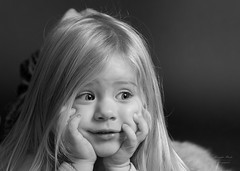Portrait of young toddler in black and white (alexander.dischoe) Tags: toddler girl mdchen bw blackandwhite blackwhite schwarzweiss studio shooting sw nikon nikond800e d800e nikon2470mm 2470mm face portrait portrt gesicht dslr fx