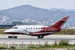 Aurela - Hawker 900XP - LY-FSK (j.borras) Tags: airplane spotting barcelona bcn lebl takeoff departing rwy25l hawker 900xp aurela lyfsk
