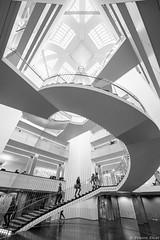 Bibliothque universitaire, Strasbourg, France (Etienne Ehret) Tags: bibliothque universitaire strasbourg alsace france noir noirblanc blanc bw black white people gens graphique graphisme nikon d610 1424mm f28