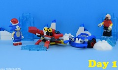 Sonic vs Doctor Eggman (Alex THELEGOFAN) Tags: lego sonic legography doctor eggman crab teeth red blue white ring christmas december ice cold the hedgehog rock minifigures minifigure minifig minifigs minifigurine minifigurines video game