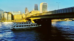 London Bridge in winter sunshine (robbierunciman) Tags: clearsky sun water bridge thames winter city london
