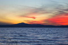 Sunset (Massimo_Discepoli) Tags: lake water sunset clouds colors umbria trasimeno italy light