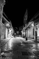 DSCF9667 (Joshua Williams' Photography) Tags: jerusalem israel bw night oldcity