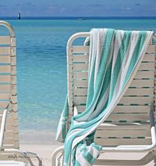 Bermuda (albyn.davis) Tags: bermuda ocean chairs towel simple beach water weather vacation travel relaxation colors blue