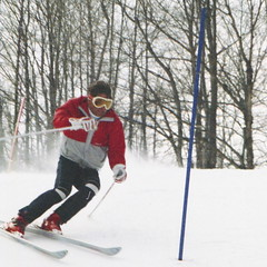 Ski School Slalom (wordman760) Tags: sport skiing slalom racing race gate grayrocks snoweagleskischool sugarpeak winter snow outdoors laurentides laurentians québec canada 35mm