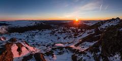 Pink Hues - Bowfell [Explored] (tristantinn) Tags: bowfell sunrise lakedistrict cumbria winter panorama windermere fells mountains landscape