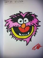 Day 56 of my drawing streak (# annola) Tags: animal muppet disegno dessin drawing zeichnen feutre feltpen pennarello filzstift colour color comic