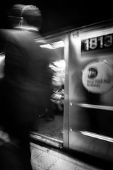 NYC Subway (A Screaming Comes Across the Sky) Tags: city sony a6300 adapted lens tokina 1116 street wideangle ny nyc new york cityy newyork blackandwhite monochrome people indoor