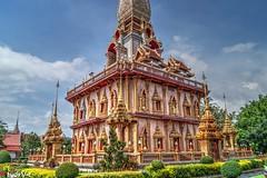 Wat Chalong, Phuket (Ld\/) Tags: watchalong phuket thailande thailand hdr temple pray wat chaiyathararam monks patong luang pho cham kathu rawai