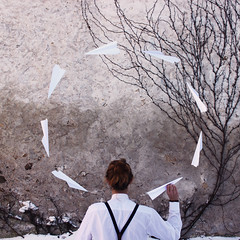 Things We Lose (Marek Kalich) Tags: fine fineart art paperplanes planes tfeel moody guy boy fashion style fly away life selfportrait winter outdoor nature light