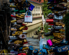 Locks Prague (emiliovillegas) Tags: travel river restaurant republic czech prague locks mosel romantik