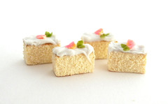 Angel Cake Slices 1 (Homewardflight) Tags: cakes cake miniatures handmade dollshouse oneinchscale 112thscale