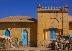 Former Train Station, Keren, Eritrea (Eric Lafforgue) Tags: africa door color colour building horizontal architecture outdoors photography day colonial nobody nopeople karen arabic trainstation ottoman decline keren oldfashioned eritrea hornofafrica eastafrica eritrean eritreo charen buildingexterior colorpicture erytrea eritreia colourimage italiancolony  cheren arabicstyle ertra    eritre eritreja eritria  rythre africaorientaleitaliana     eritre eritrja  eritreya  erythraa erytreja     colonialitalianarchitecture italiancolonialempire eritreanrailway ert6455