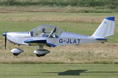 G-JLAT - 2003 build Aerotechnik EV-97 Eurostar, arriving at Barton for the 2013 Family Fun Day & Fly-In (egcc) Tags: manchester eurostar barton microlight flyin pfa familyfunday cityairport ev97 aerotechnik gjlat egcb rotax912 31514068