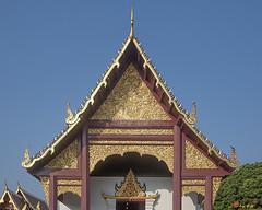 Wat Duang Dee Phra Wihan Gable  (DTHCM0291) วัดดวงดี หน้าจั่ว พระวิหาร