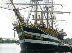 Amerigo Vespucci (5) @ West India Dock 08-08-13 (AJBC_1) Tags: uk england london boat ship unitedkingdom vessel tallship canarywharf sailingship italiannavy westindiadock ajc ajc