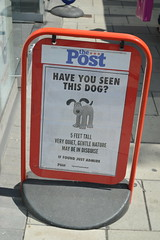 Have You Seen This Dog? (CoasterMadMatt) Tags: city uk greatbritain summer england dog southwest west art english season bristol poster photography artwork post photos unitedkingdom britain south united great statues kingdom august exhibition have trail photographs gb british seen figures avon sculptures gromit wallaceandgromit thepost aardman unleashed 2013 haveyouseenthisdog coastermadmatt gromitunleashed