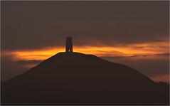 Tor Silhouette (Chris Beard - Images) Tags: uk summer england mist sunrise dawn glastonbury august somerset mists