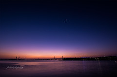 Sunrise yokohama (524select) Tags: blue moon japan port sunrise landscape bay nikon yokohama d7100