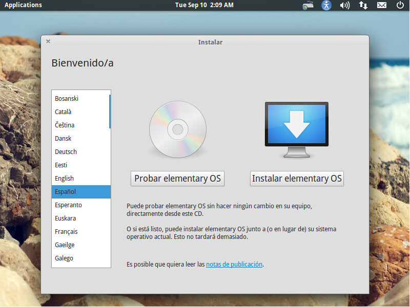 como instalar elementary OS
