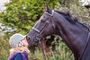 Sue & Rennick (please read description) (Raven Photography by Jenna Goodwin) Tags: people horse black love ex beautiful person 50mm prime photo minolta bokeh racing businessasusual pony 17 rs equestrian thoroughbred equine photogaphy resuce flickrfriday flfrok