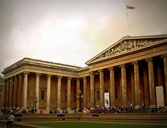 Outside the British Museum (Germn Vogel) Tags: uk england london classic tourism museum architecture facade europe cloudy britain capital landmark column britishmuseum gable classicism westeurope