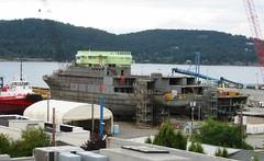 Boat Construction at Dakota Industries (jiff89) Tags: roof hotel boat washington construction inn ship view tugboat anacortes majestic spa dakota guemes addition crowley 2013
