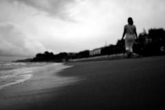 loudAndClear (niK10d) Tags: beach girl walking sand shore degregori pentaxk10d 31mmf18limited