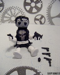 Punisher Robot (Sleepy Robot 13) Tags: cute robot diy handmade robots polymerclay fimo comicbook kawaii sculpey etsy urbanvinyl marvel sculpting smallbusiness sleepyrobot13 polymerclayurbanvinylsleepyrobot13etsysilvercraftcraftscraftingsculptingsculpturefigurinearthandmadecraftshowcutekawaiirobots