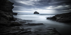 Trebarwith Strand (richard carter...) Tags: longexposure seascape clouds canon cornwall overcast trebarwith 1635