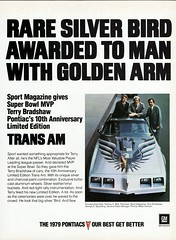 1979 Pontiac 10th Anniversary Trans Am with Terry Bradshaw (aldenjewell) Tags: sport magazine am anniversary nfl ad super bowl terry firebird pontiac 10th trans limited edition 1979 mvp bradshaw