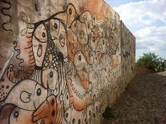 Andalucia, Granada, Albaicin. Fresque murale (Jeanne Menjoulet) Tags: andalucia andalousie grenade granada streetart fresque murale spain espagne imbrications