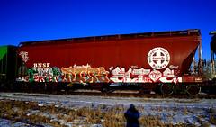 OSKER RTYPE ECTOE (Emptiness Of Light) Tags: art train graffiti colorado longmont co 2008 freight bnsf osker rtype ectoe benching