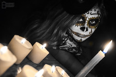 Catrinas (CronicasVicino) Tags: bridge halloween digital de dead mexico death candles day post traditions dia spooky mexican muertos production catrina catrinas tradiciones