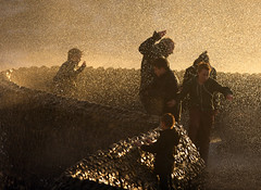 Splash! (Alan MacKenzie) Tags: sea storm kids children brighton waves spray stormoctober2013 stjudesstorm