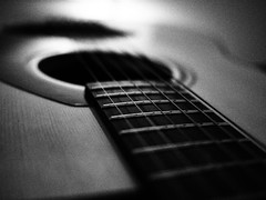 Ready (chrish224) Tags: music white black lumix guitar olympus panasonic yamaha strings 20mm 700 epl2 chrish224