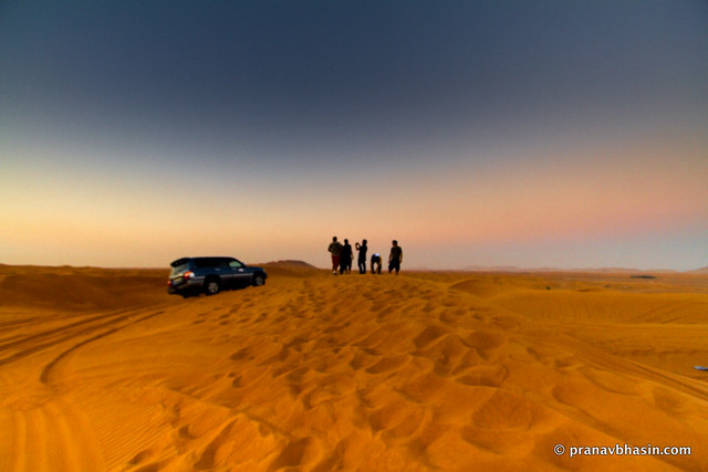 Driving Into The Sunset, Desert Safari, Dubai
