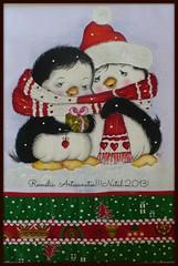 O amor  lindo!!! (romelia.artesanatos) Tags: natal de no pano prato pinguim pintura tecido natalino 2013
