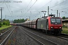 Carbonero en Koblenz-Ltzel. (Javier Hervs) Tags: train tren eisenbahn zug db via locomotive carbon maschine traxx carbonero ber niag 1500v kohlenstoff kblenz