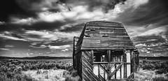 Kitchen Window (ronWLS) Tags: bw house building blackwhite ruins oldbuildings nik postprocessing northeastcalifornia silverefexpro2