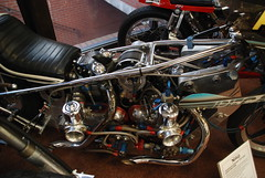 Twin Engined (Sam Tait) Tags: england classic bike museum drag birmingham top pegasus 14 twin norton national motorcycle british miles nitro fuel supercharger dragster supercharged
